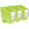 Durable Book And Binder Holder With Stabilizer Wing and Label Holder™ - 12 Pack