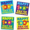 Happy 100th Day Of School Stickers - 36 stickers
