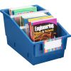 Chapter Book Library Bins™ With Dividers - Royal - 4 bins with dividers