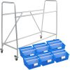 Really Good Classroom Library Rack With Picture Book Bins™ With Dividers - 1 rack, 6 bins