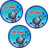 100th Day Hard Worker Stickers