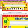 D'Nealian Kindergarten Two-Sided Cardstock Desktop Helpers - Set of 12
