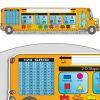 Zaner-Bloser Bus-Shaped Self-Adhesive Vinyl Desktop Helpers™ - 24 helpers