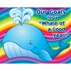 "Ready-To-Decorate® 3-D ""Whale Of A Good Year"" Goals Bulletin Board Display"