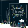 Chalkboard Shooting Stars Homework Folders - 2 Pocket - 12 Pack