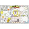 Welcome Back To School Doodle Activity Mats - 24 mats