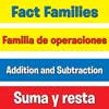 Addition And Subtraction Fact Families Pocket Chart™ English/ Spanish Cards Refill - 164 cards