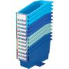 Durable Book And Binder Holders With Stabilizer Wings - True Blue 12-Pack