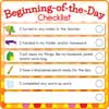 Beginning-And End-Of-The-Day Checklists Kit - 12 cards, 12 sleeves