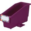 Durable Book and Binder Holder With Stabilizer Wings and Label Holder - Single Bin