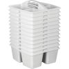 Four Equal Compartments Caddies - Set Of 12