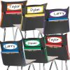 Grouping Chair Pockets - 6 Pack - 6 Group Colors - Black
