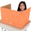 Standard Privacy Shields - Set of 12 - Star and Swirl - Orange - Matte