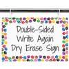 Paw Prints Dry Erase Sign
