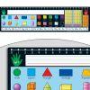 120 Grid With Number Line Self-Adhesive Deluxe Plastic Desktop Helpers™ - Set Of 24