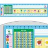 Zaner-Bloser 100 Grid With Number Line Deluxe Plastic Desktop Helpers™