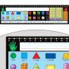 120 Grid With Number Line Self-Adhesive Vinyl Desktop Helpers™ - 24 helpers