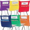 Grouping Chair Pockets - 24 Pack - 6 Group Colors - Assorted