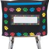 Store More® Deep-Pocket Chair Pockets - Black With Paw Prints Border