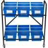 Mid-Size Mobile Storage Rack With Chapter Book Bins™ - 1 rack, 6 bins