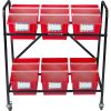 Mid-Size Mobile Storage Rack With Chapter Book Bins™