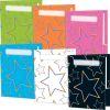 Neon Pop Star Folders 6 Colors - 2 Pocket - 12 Pack
