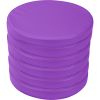 Round Cushions  Set Of 6  Single Color - Purple