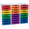 White 27-Slot Mail Center With Trays - 6-Color Grouping