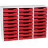 White 27-Slot Mail Center With Trays - Single Color
