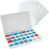 Magnetic Dry Erase Boards With Color-Coded Plastic Letters - Small Group Pack