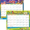 Monthly Calendar Pages And Stickers 2020-2021 Primary - 12 calendar pages, 120 stickers