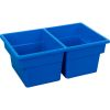 Two-Compartment All-Purpose Bin  Single - Blue