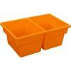 Two-Compartment All-Purpose Bin  Single - Orange