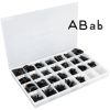 Black Plastic Magnetic Letters Kit  Uppercase And Lowercase - 217 letters, 1 storage case