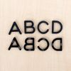Black Plastic Magnetic Letters Kit Uppercase And Lowercase