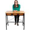 Teacher Standing Desk With Baskets - 1 standing desk, 3 baskets