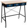 Teacher Standing Desk With Baskets - Royal Blue