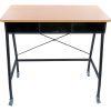 Teacher Standing Desk With Baskets - Royal Green