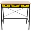 Teacher Standing Desk With Baskets - Yellow