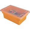 All Purpose Bins And Lids Set Of 12 Single Color   Orange