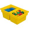 Two-Compartment All-Purpose Bins  Set Of 12  Single Color - Yellow