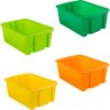 Classroom Stacking Bins – Citrus – Set Of 4