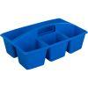 Multi-Use Storage Caddies – Single Color – Set Of 12 - Blue