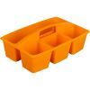 Multi-Use Storage Caddies – Single Color – Set Of 12 - Orange