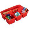 Multi-Use Storage Caddies – Single Color – Set Of 12 - Red