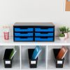 Black 6 Slot Mail Center With Trays Single Color   Blue