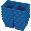 Small Two Compartment All Purpose Bin   Set of 12   Blue