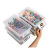 Clear Easy Label Bins with Lids Set of 4