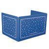 Deluxe Plastic Privacy Shield   Large Black Single