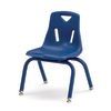 10  Berries Stacking Chairs with Matching Legs Blue   Set of 6